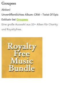 Royalty Free Music Bundle - Twist of Epic für Charity Aktion