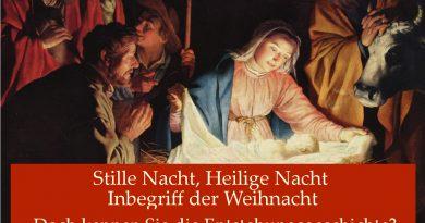 Stille Nacht, Heilige Nacht – Inbegriff der Weihnacht